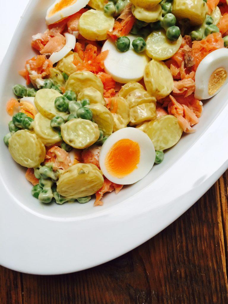 Zalmsalde met krieltjes recept van foodblog Foodinista