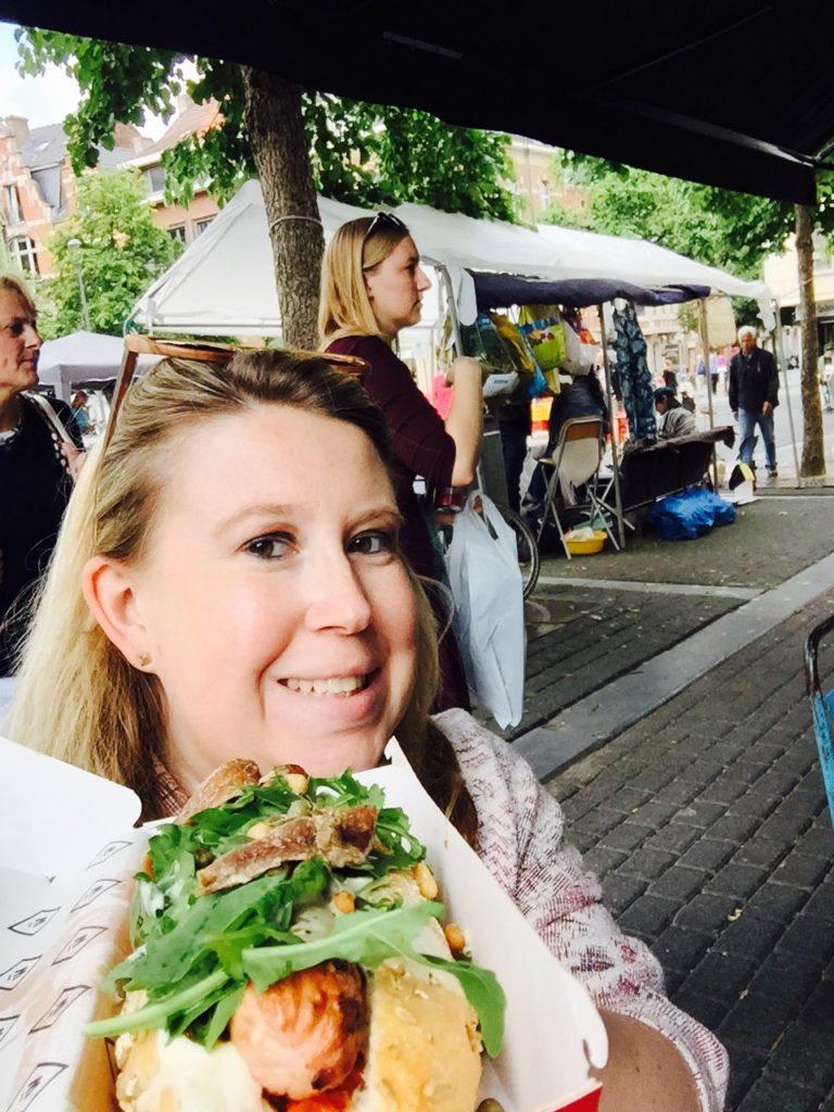 Hot Dogs bij Würst van Jeroen Meus op persreis in leuven