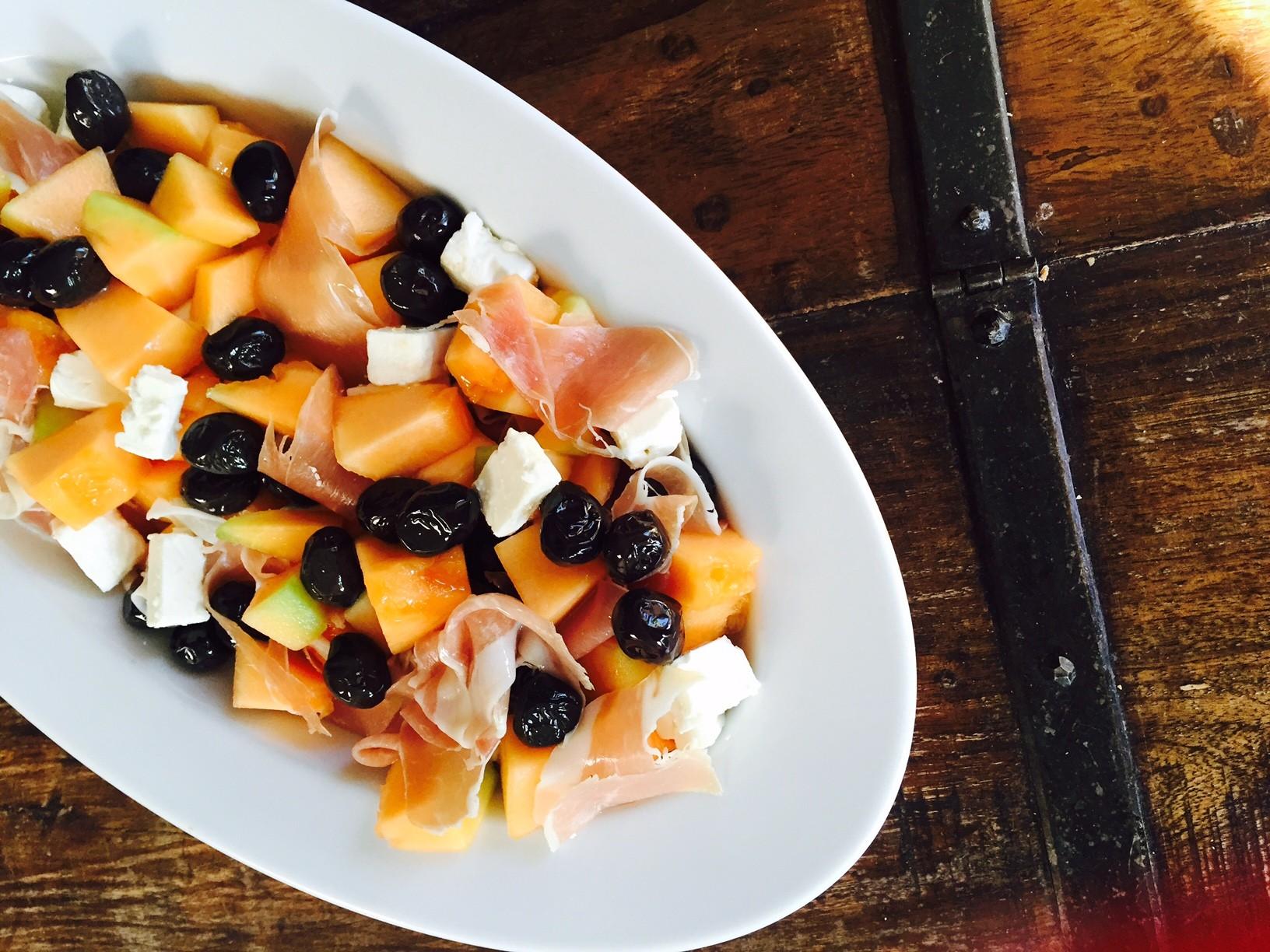 Meloensalade met ham en feta recept van foodblog Foodinista