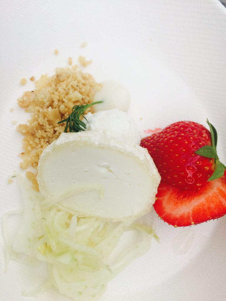 Bereidingen van Geitenkaas bij Hapje Tapje Festival in leuven Foodie In Leuven Foodblog Foodinista