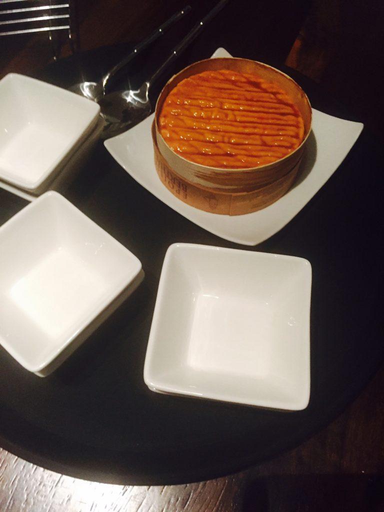 Dessertkaas gedrenkt in amberbier foodpairing bier workshop Leuven foodblog Foodinista