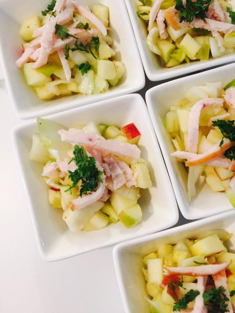 Witlofsalade met appel en kip foodpairing met bier foodblog foodinista