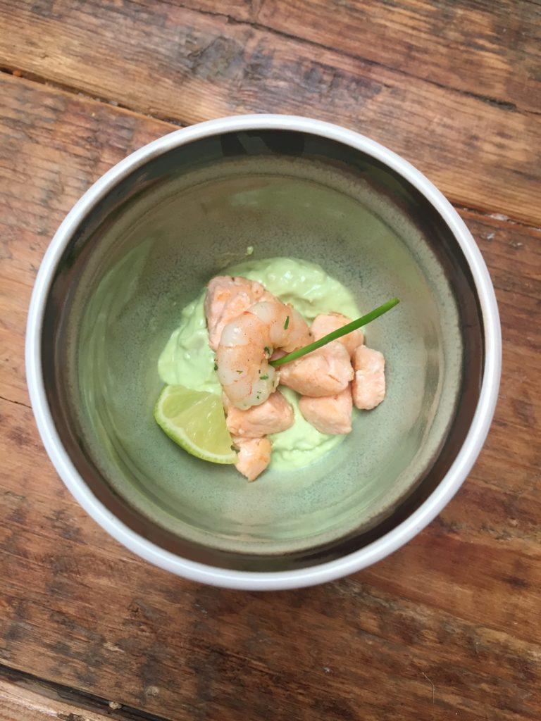 amuse recept avocadomousse zalm en garnaal recept van foodblog Foodinista