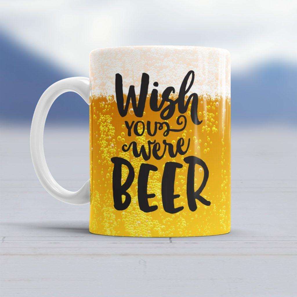 Ludieke sinterklaascadeautjes met een smile koffiemok met wish you were beer foodblog Foodinista