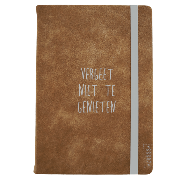 sinterklaas cadeautjes voor travellers Notitieboek cognac imitatieleer blogger Foodinista