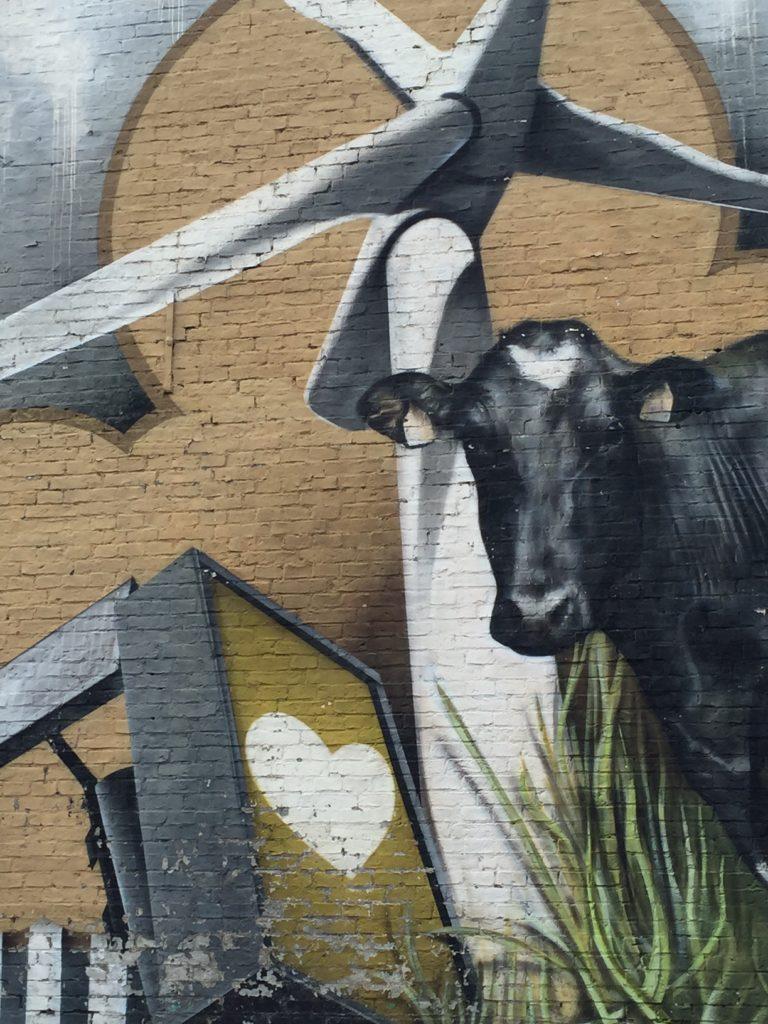 Streetart tour leeuwarden koeien in het veld foodie in Friesland foodblog Foodinista