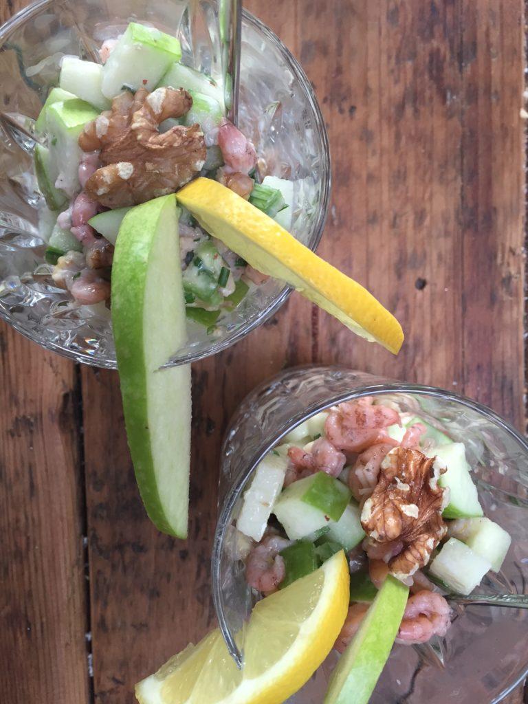 garnalencocktail recept met een Griekse twist foodblog Foodinista