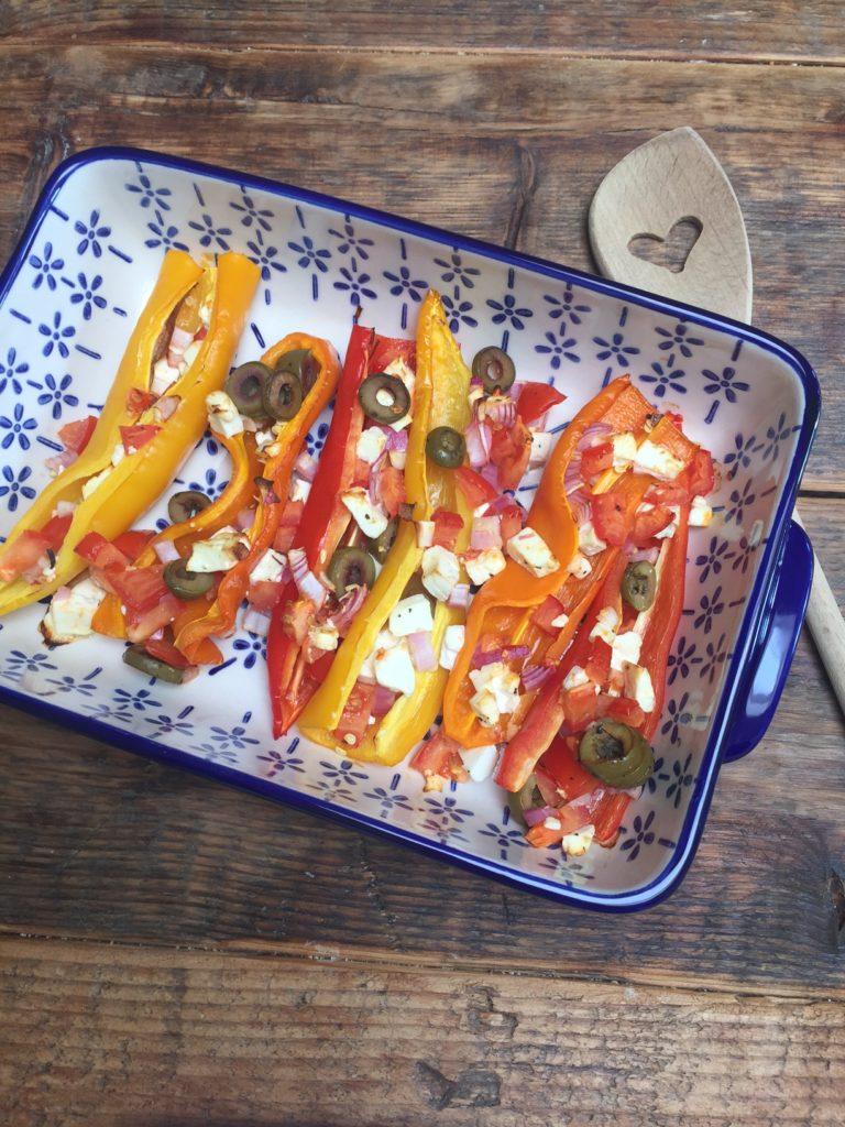 Gevulde paprika met feta uit kookboek foodless review op foodblog Foodinista