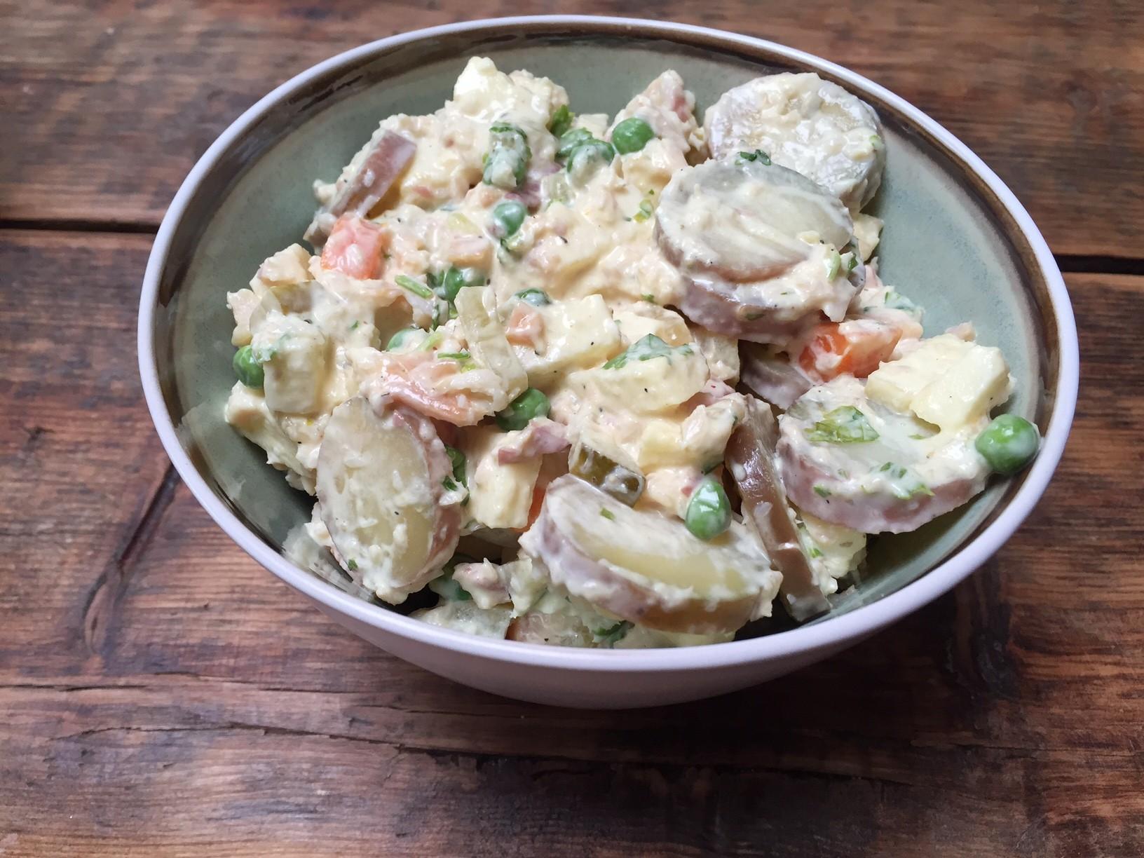 Recept voor huzarensalade met forel foodblog Foodinista