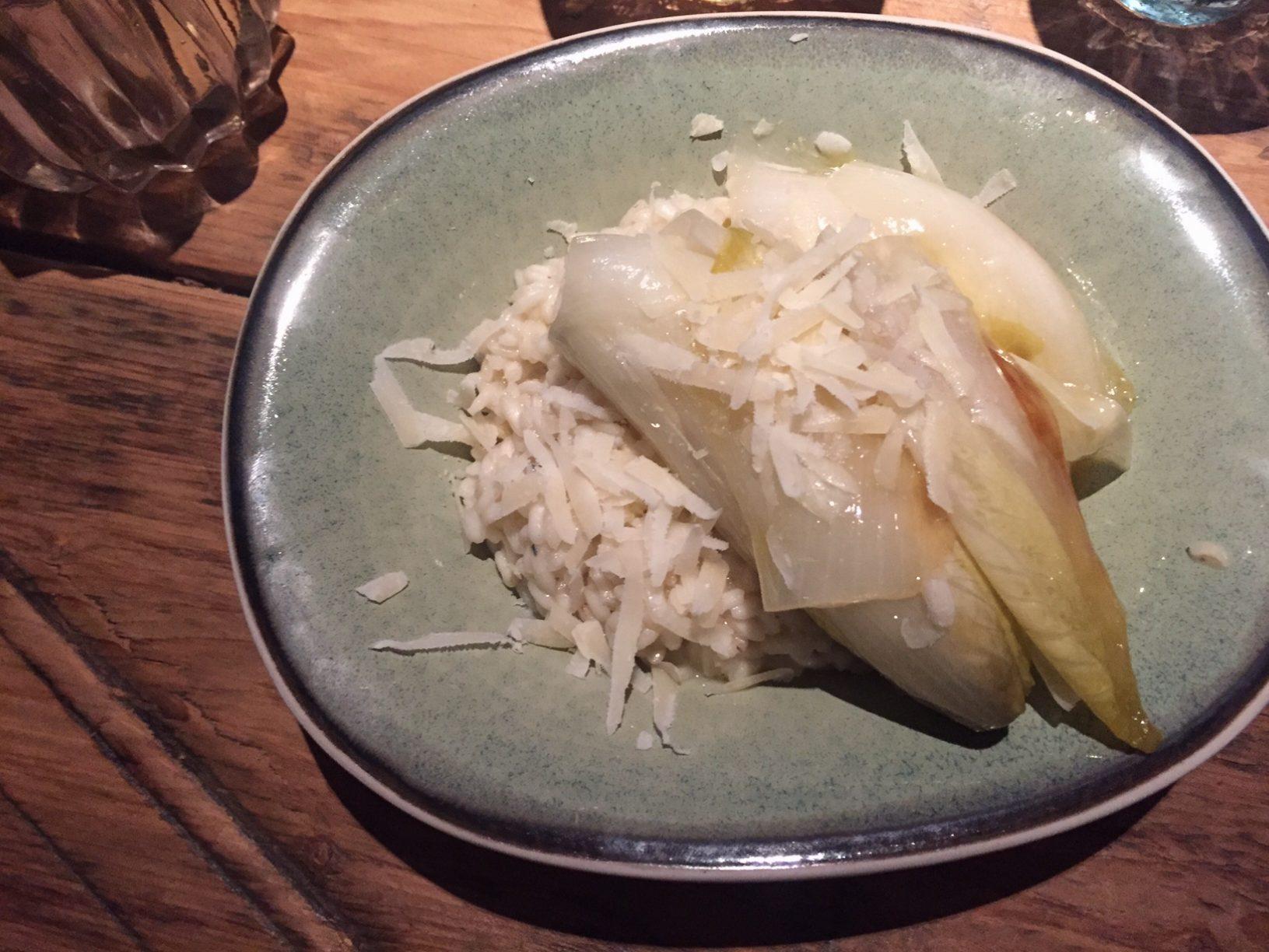 gorgonzola risotto met balsamico witlof recept van foodblog Foodinista