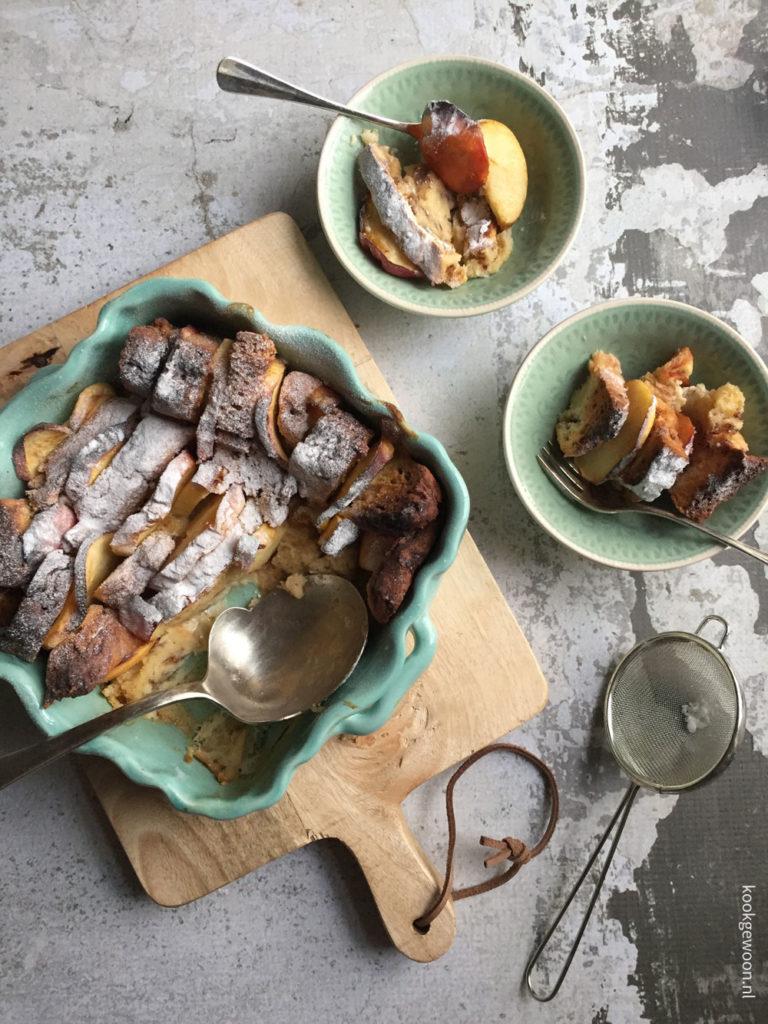 Budgetrecepten tips Broodpudding uit de airfreyer Foodblog Foodinista