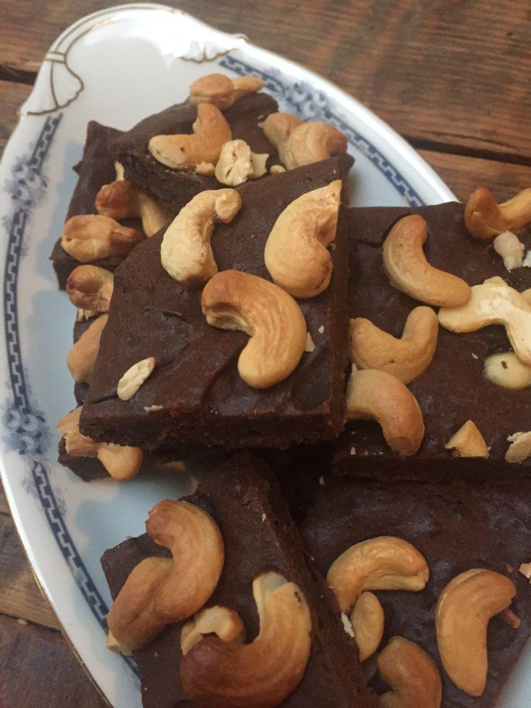 Brownies met cashewnoten en banaan recept van foodblog Foodinista