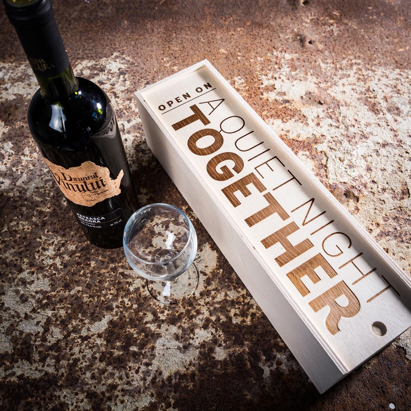 Gepersonaliseerde wijnbox Valentijnsdag cadeautips voor mannen van Foodblog Foodinista