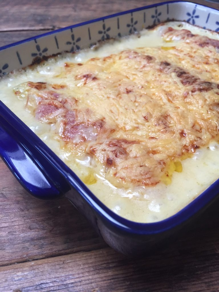 Ovenschotel recept ham preirolletjes foodblog Foodinista