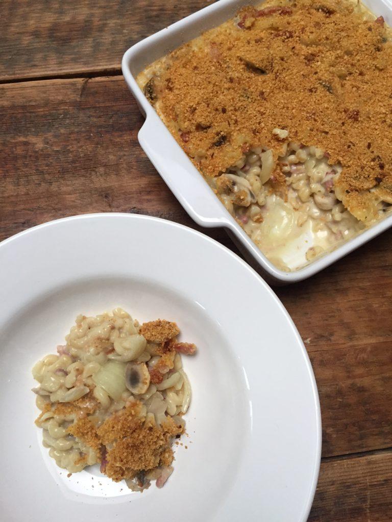 Kidsproof pasta carbonara ovenschotel recept