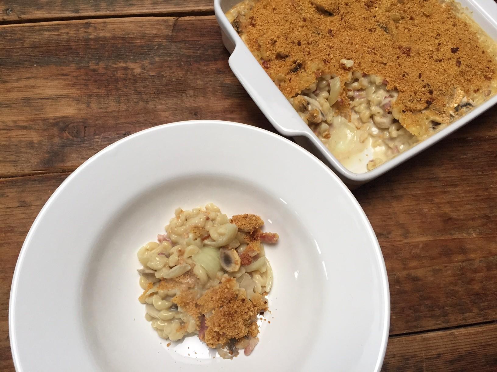 Kidsproof pasta carbonara ovenschotel recept van Foodblog Foodinista