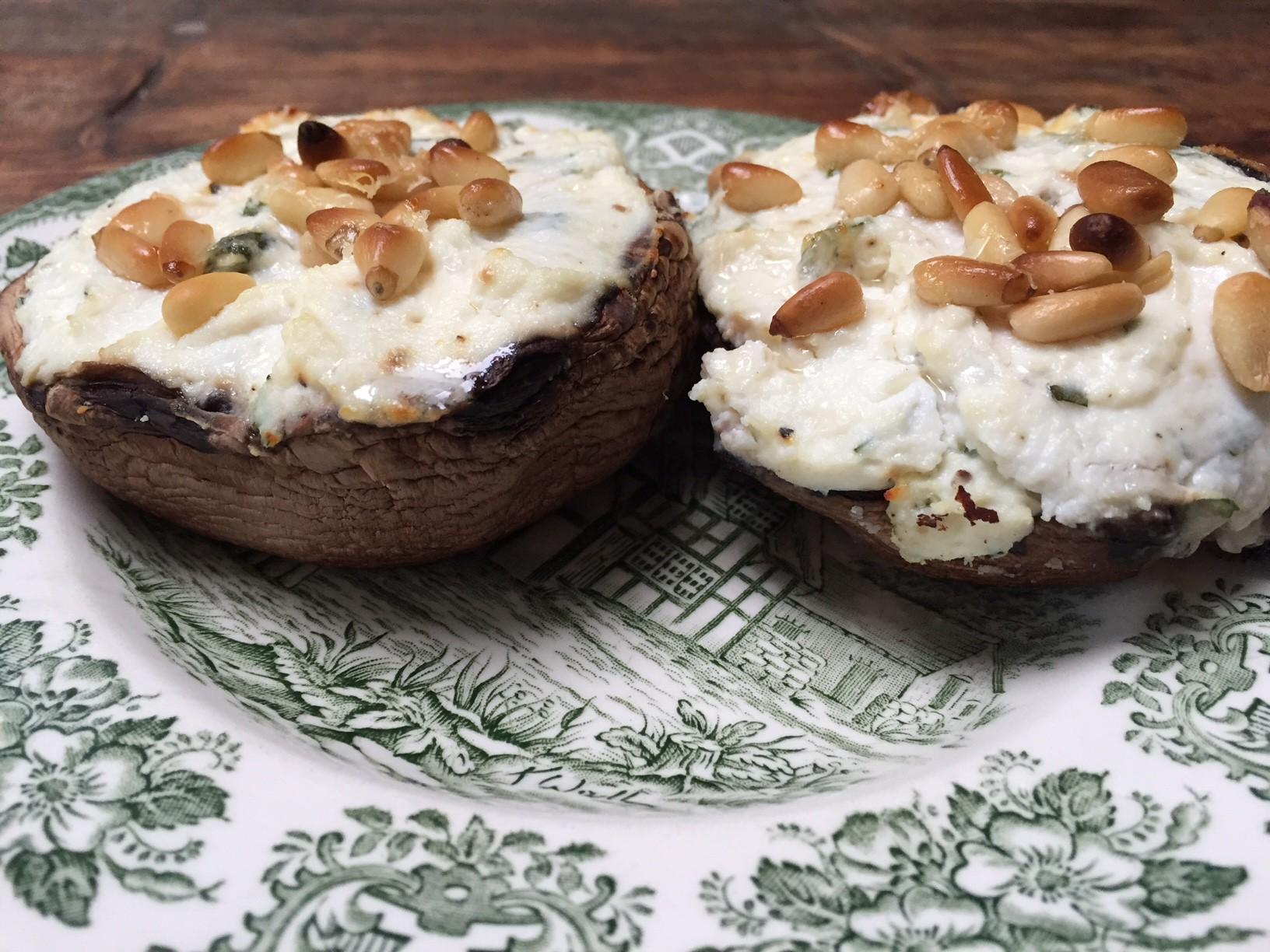 Gevulde portobello met ricotta en munt recept van foodblog Foodinista