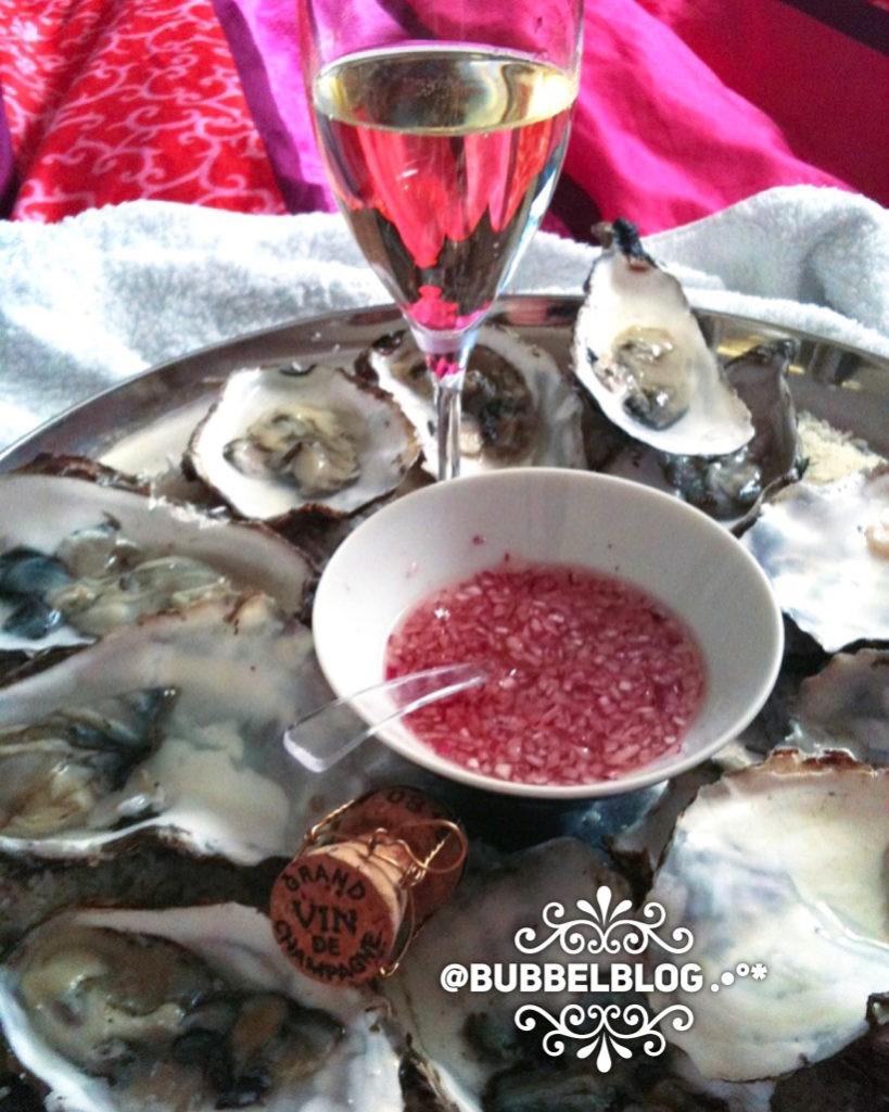 Valentijnsrecept oesters met champagne foodblog Foodinista