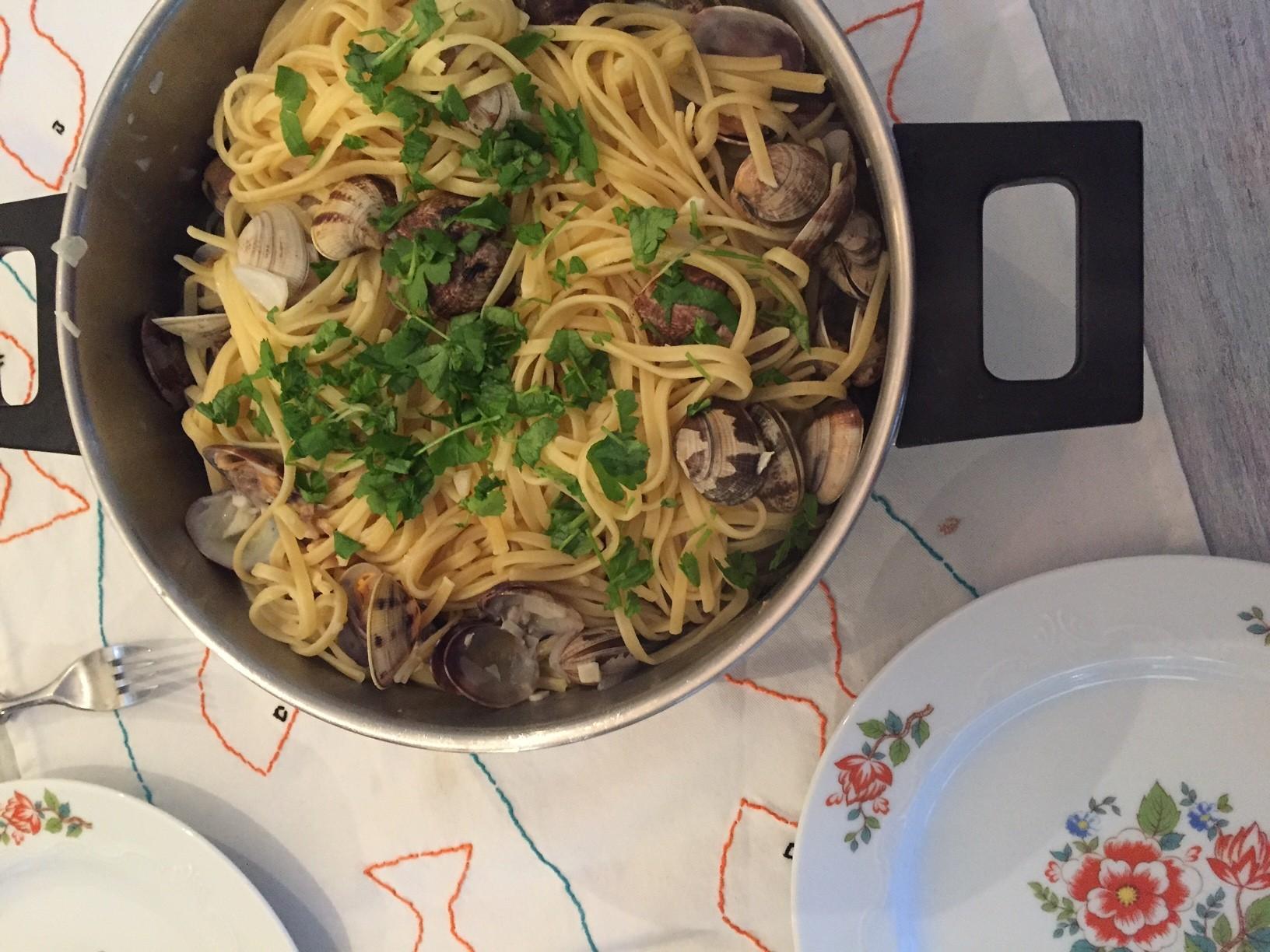 Kokkels met pasta recept van foodblog Foodinista