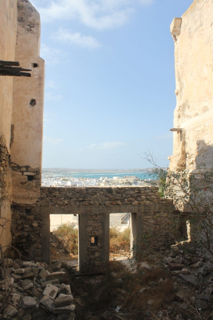 Wandelen door Naxos Stad met uitzicht