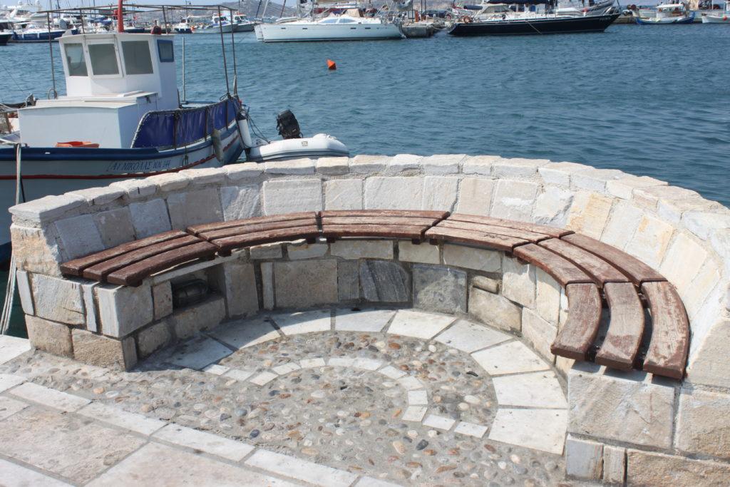 Uitzicht in de haven van Naxos Cycladen Griekenland