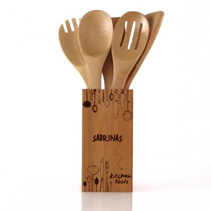 Gepersonaliseerde houten keukenset Moederdag cadeautjes set foodblog Foodinista