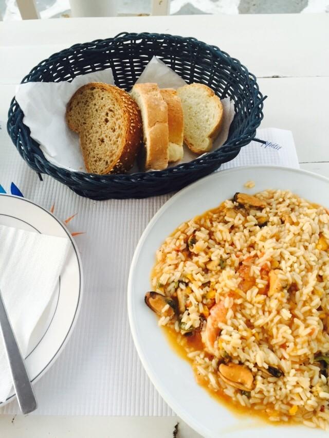 Naxos Risotto met zeevruchten Alkyoni Beach Hotel Foodblog Foodinista