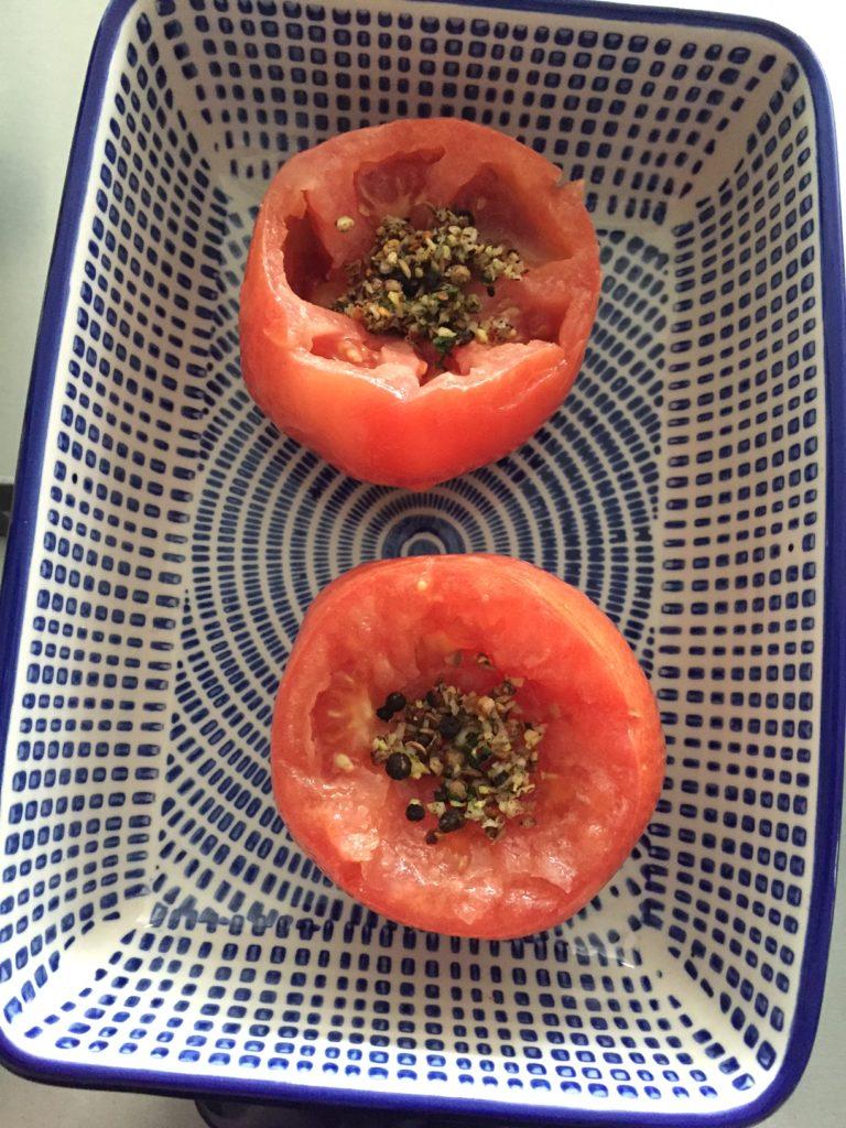 Tomaten gevuld met kruiden recept van foodblog Foodinista