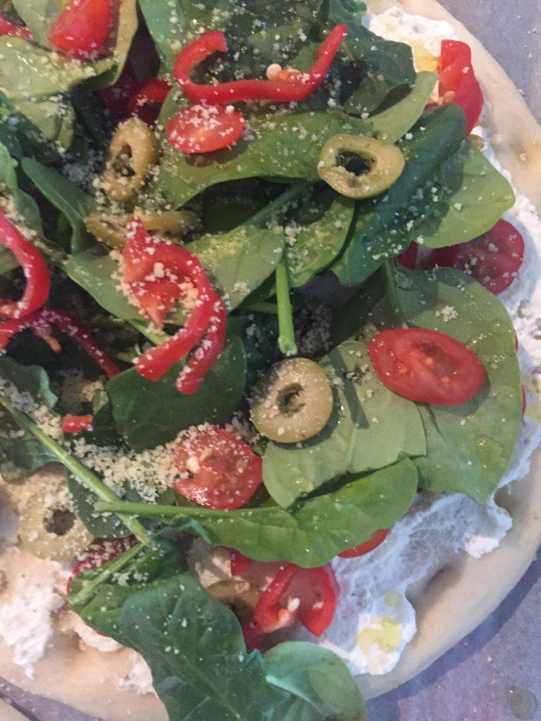 Vegetarische pizzatopping recepten foodblog Foodinista