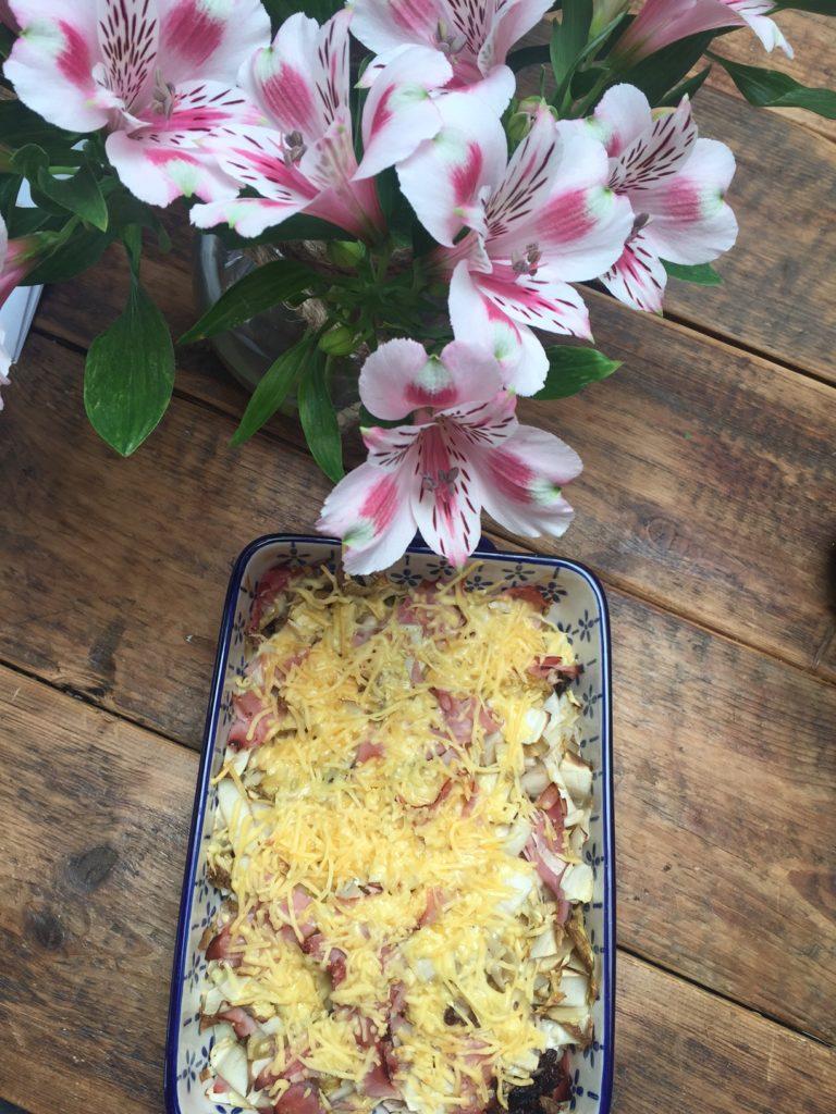 Gegratineerde witlofsalade recept foodblog Foodinista