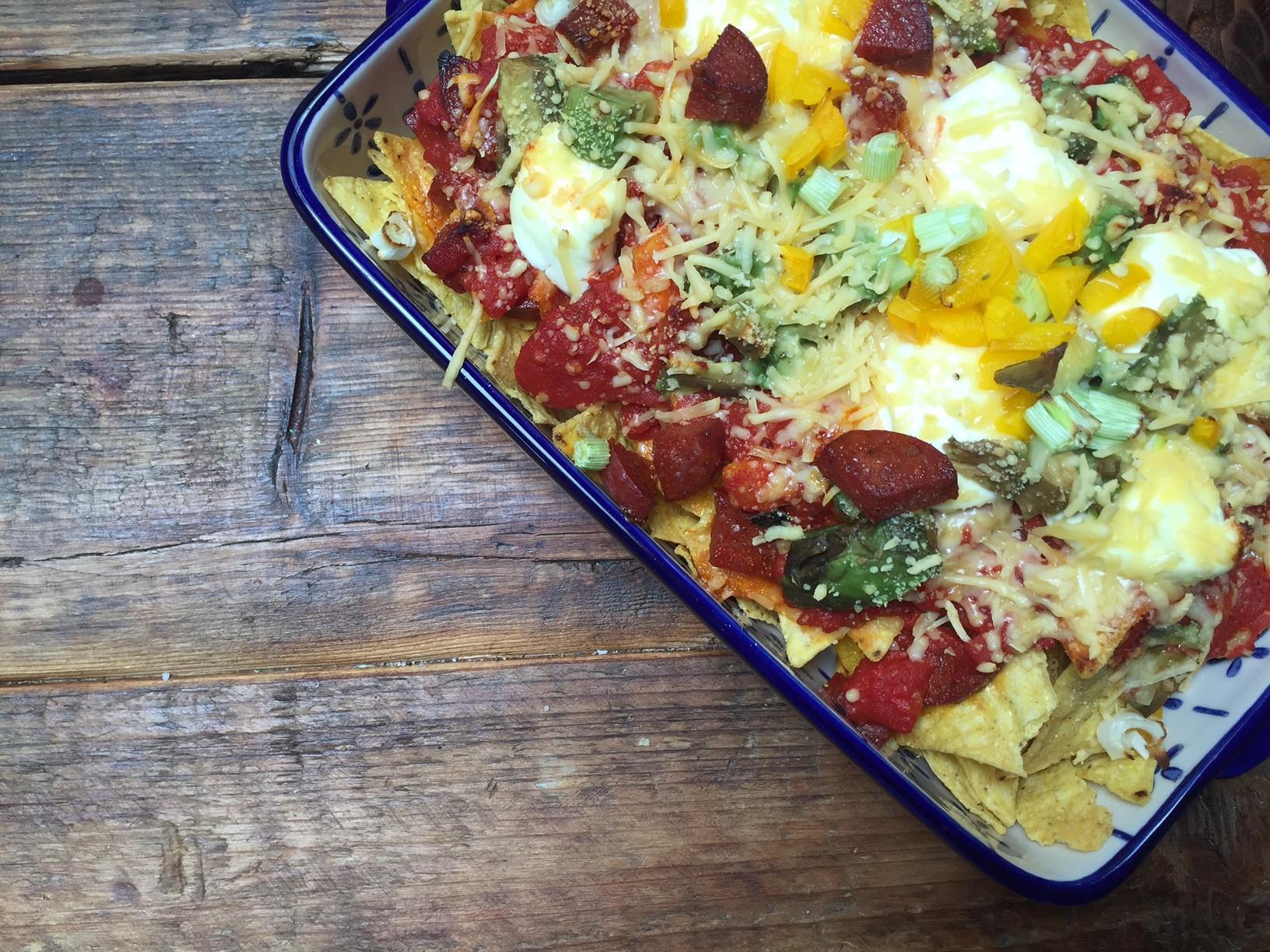 Nachoschotel met chorizo en paprika ovenschotel recept Foodblog Foodinista