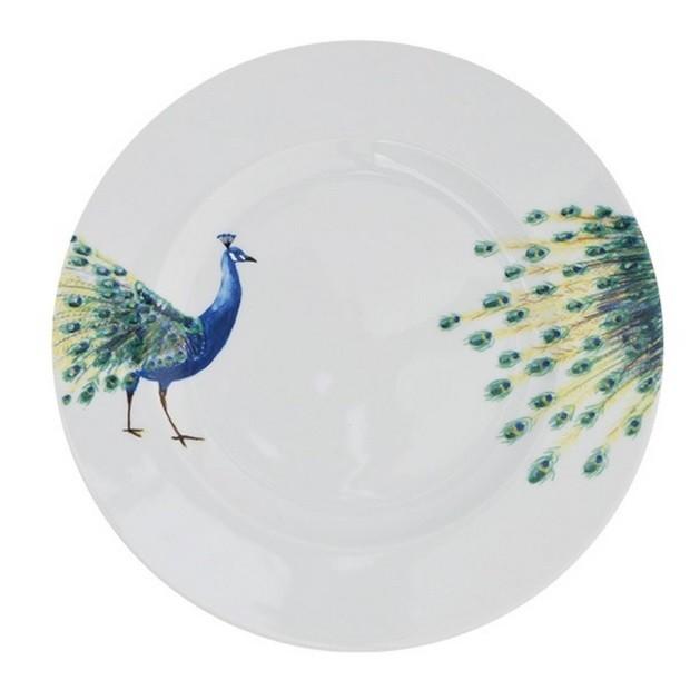 Bord met pauw Mooie borden voor deze zomer Foodblog Foodinista