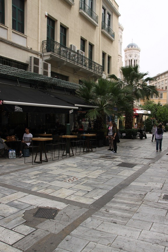 Restaurantjes shopping district Athene Griekenland Foodblog Foodinista
