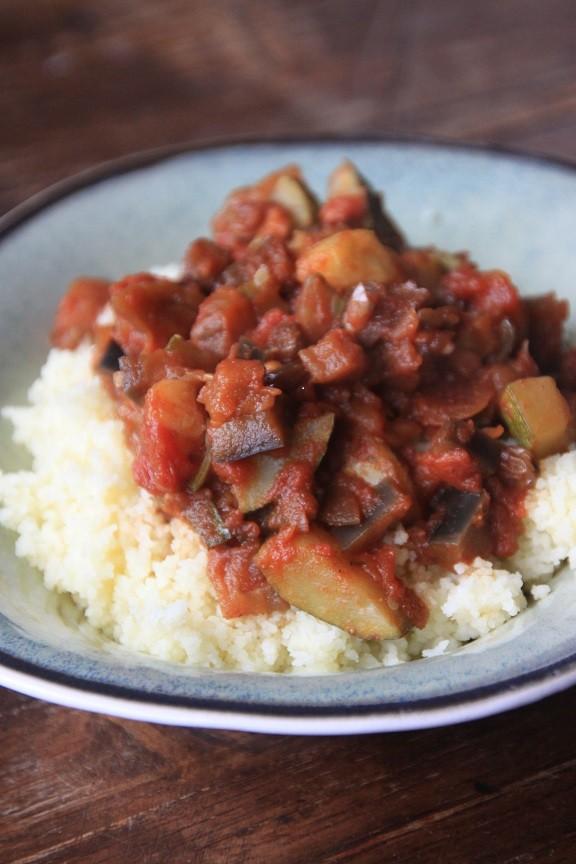 Recept voor Marokkaanse zoete ratatouille met couscous van foodblog Foodinista