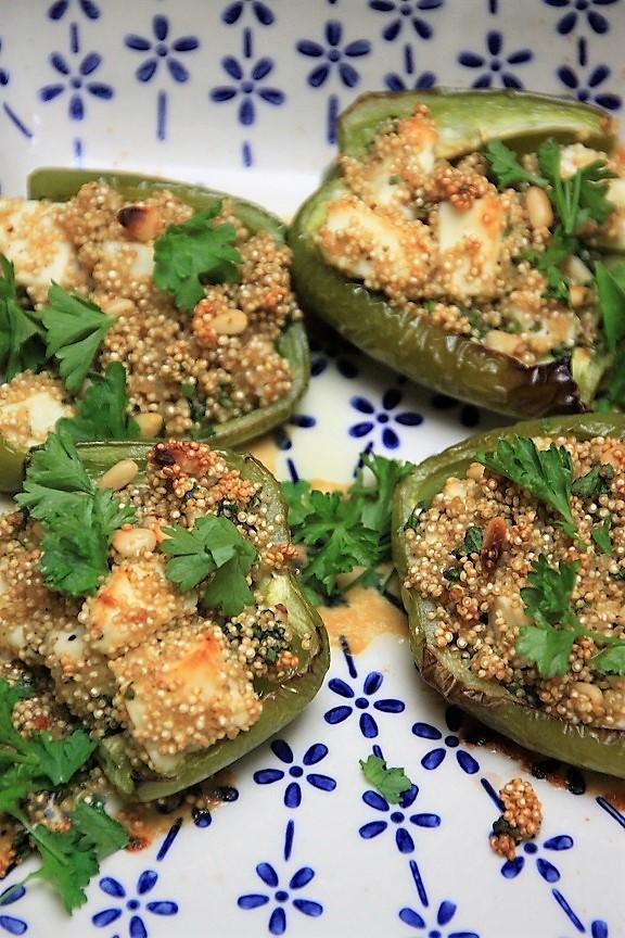 Gevulde paprika met quinoa en feta recept van foodblog Foodinista