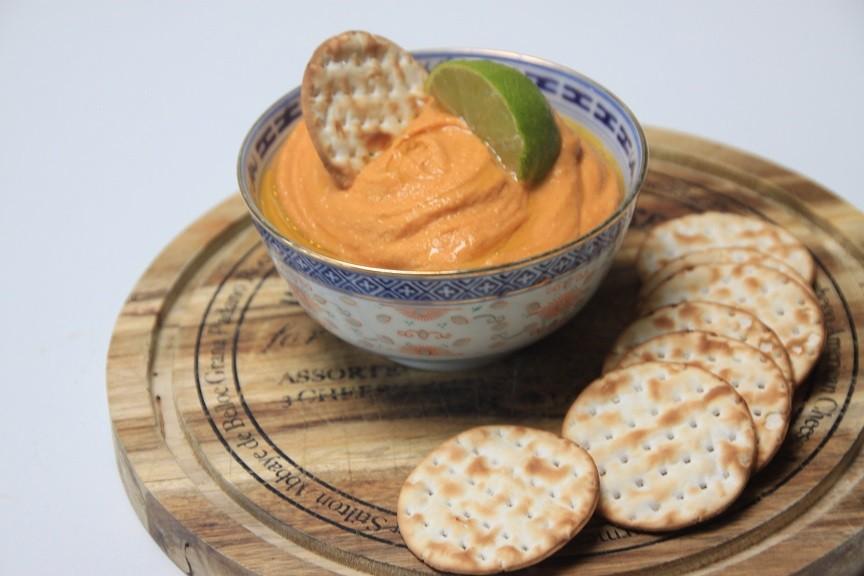 Zoete aardappel hummus recept foodblog Foodinista