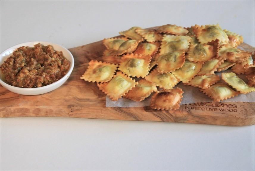 Ravioli uit de airfryer recept van foodblog Foodinista