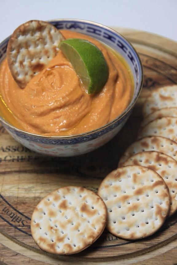 Zoete aardappelhummus recept van Foodblog Foodinista
