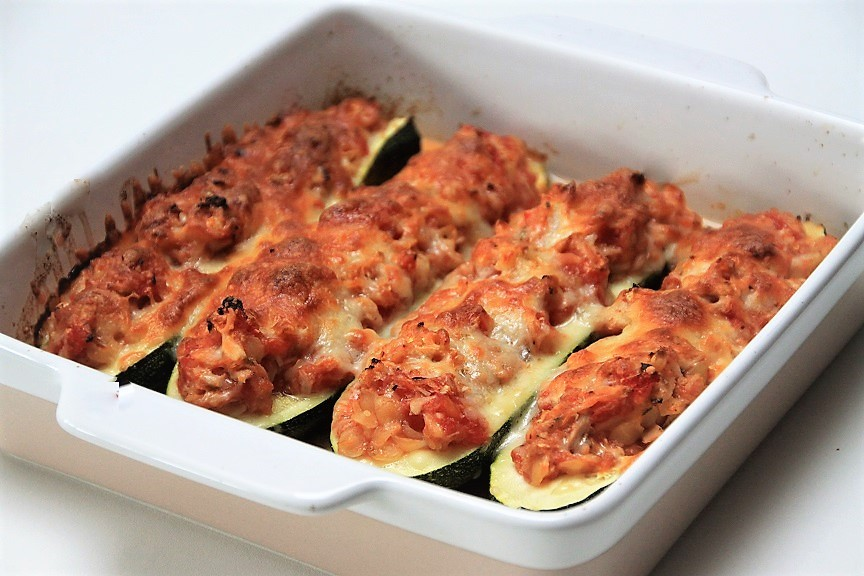 Ovenschotel recept gevulde courgette met tonijn van Foodblog Foodinista
