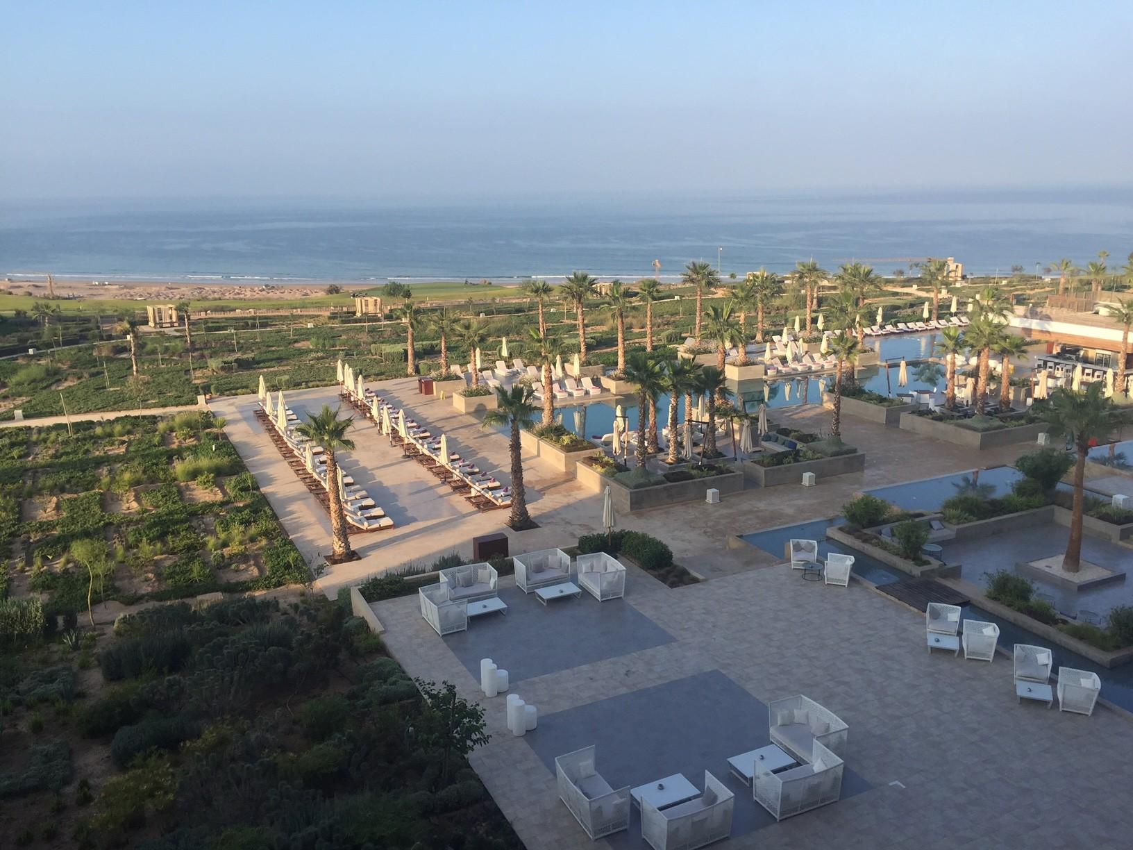 Thagazout Bay Hyatt uitzicht vanaf het balkon genieten in Marokko reisblog Foodinista