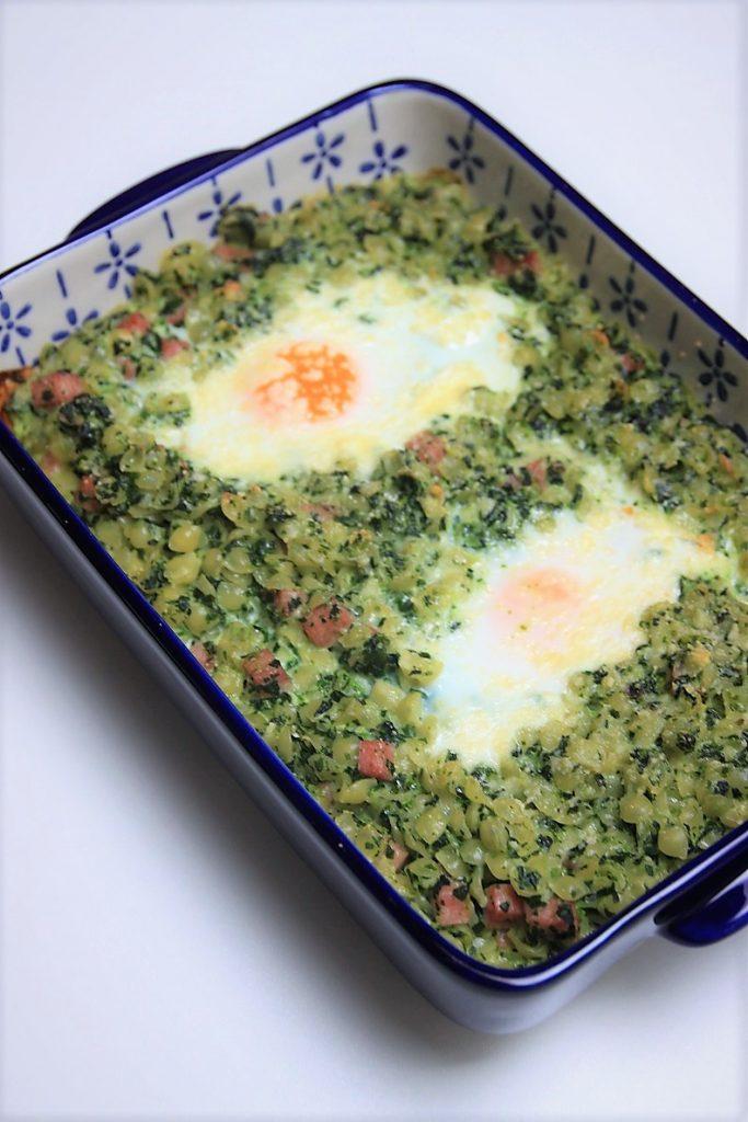 Ovenpasta recept met spinazie en ei Foodblog Foodinista