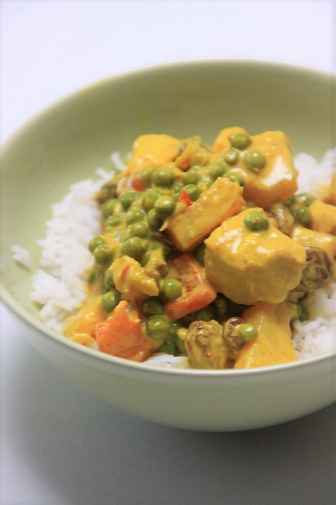Recept voor Rijst met kip kerrie en ananas Foodinista