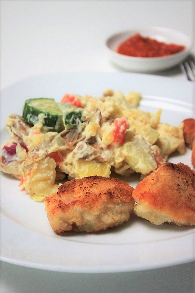 Kalkoennugets met aardappelsalade recept van Marley Spoon met kortingscode