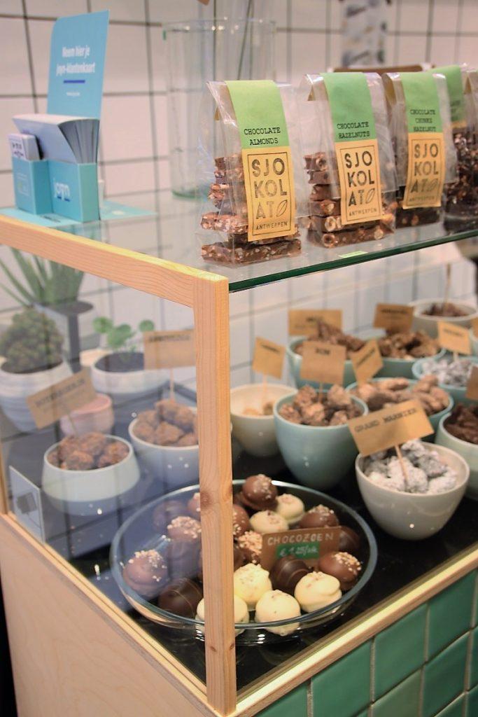 Bonbons en souvenirs bij Sjokolat Smaakmeesters in Antwerpen Foodinista