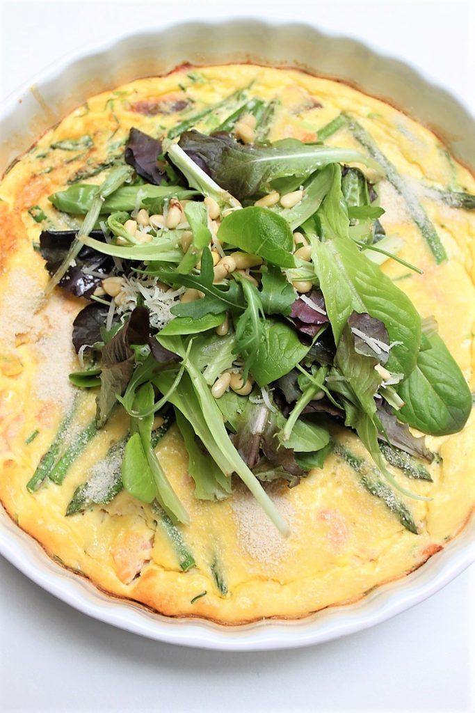 Ovenomelet met asperges en zalm recept van Foodblog Foodinista