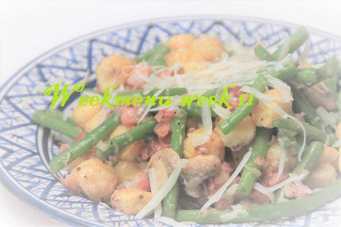 Gevarieerd en makkelijk weekmenu week 11 foodblog Foodinista