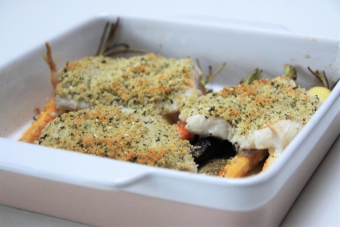 Ovenschotel met kabeljauw en gegrilde worteltjes foodblog Foodinista
