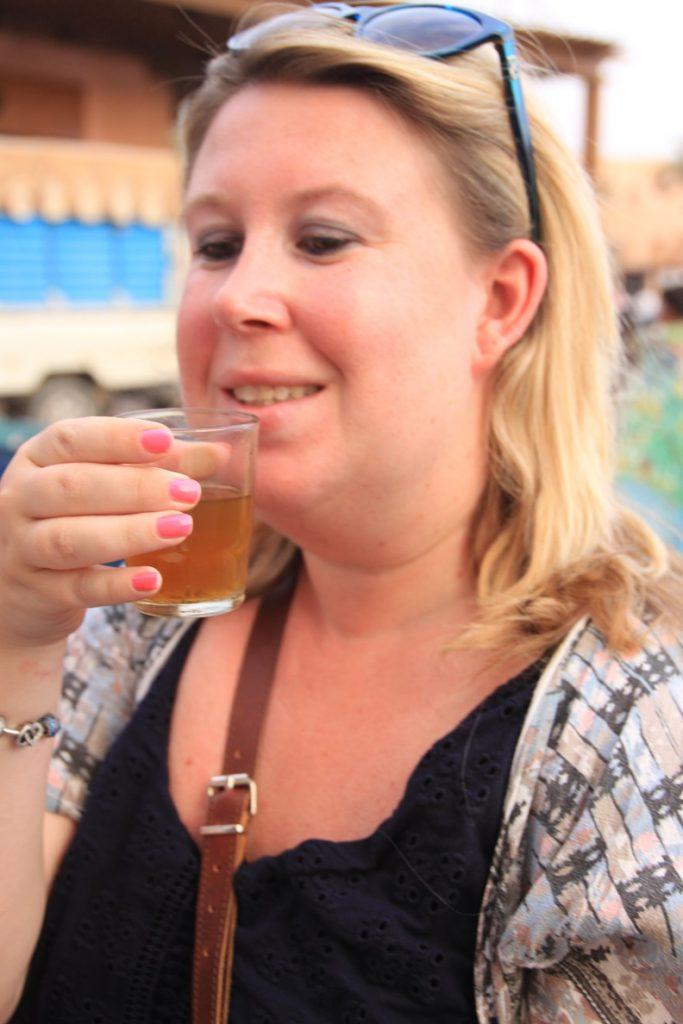 Marokkaanse thee in Marrakech tijdens Foodtour in Marrakech Foodinista