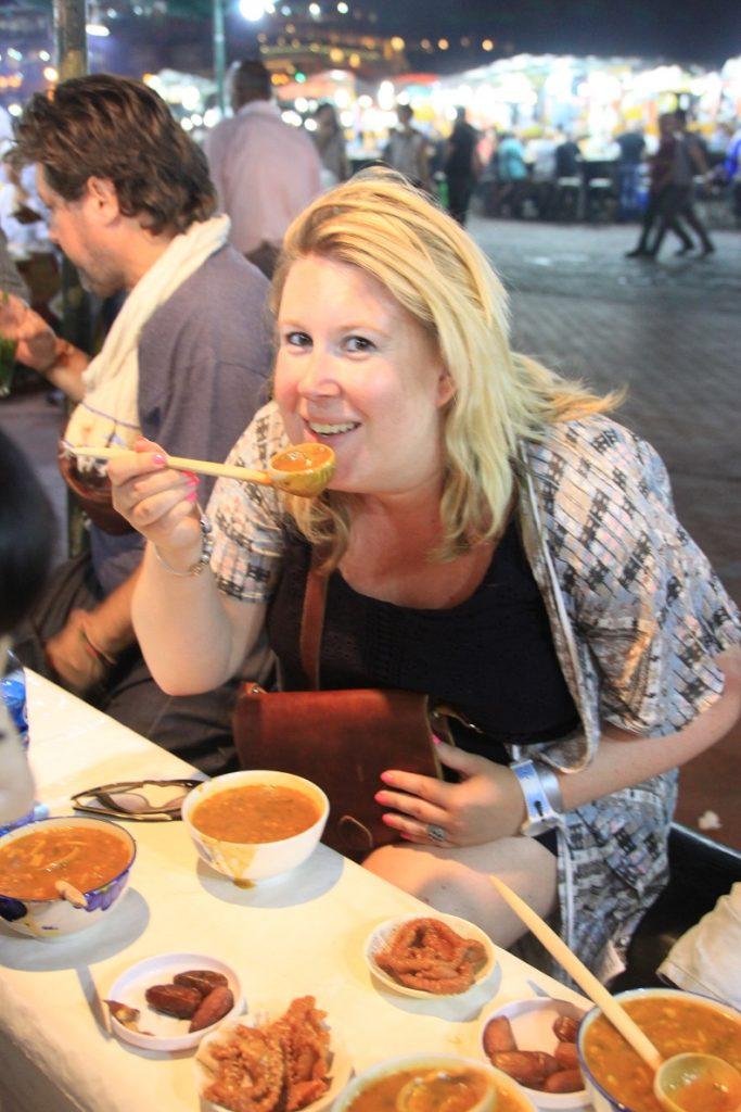 Harissa op Djem el Fna tijdens de foodtour in Marrakech