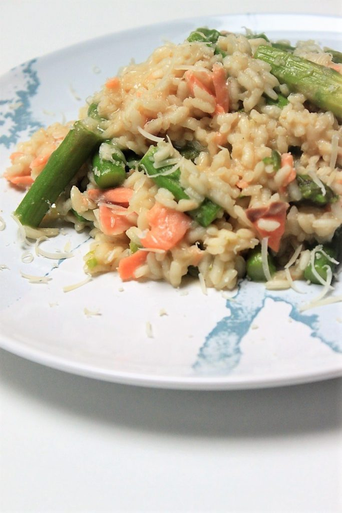 Risotto met asperges en zalm Foodblog Foodinista